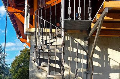 Les Escaliers En Colimaçon Et Hélicoïdaux